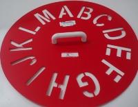 Circular Stencil A - M